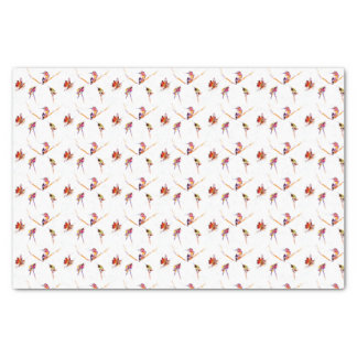 """Musical Perches"" Hummingbird Print Tissue Paper"
