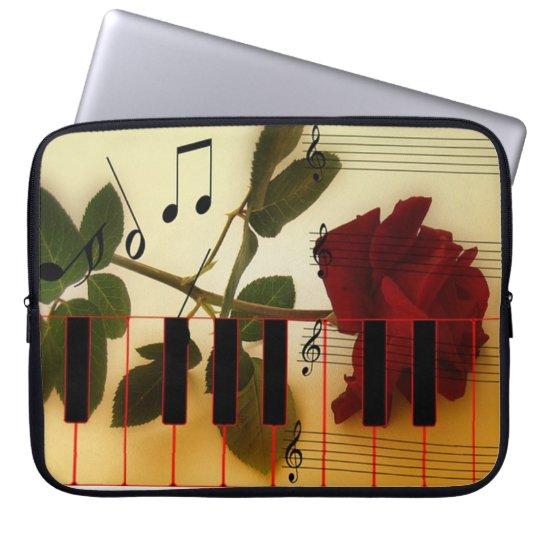 Musical Piano Keys Laptop Sleeve