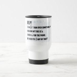 Musical play on words travel mug