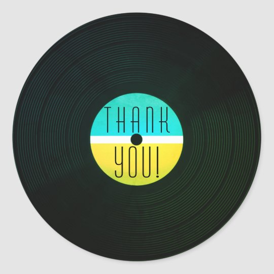 Musical record plate vinyl vintage style classic round