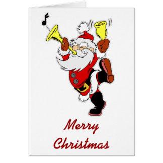 Musical Santa Claus Greeting Card
