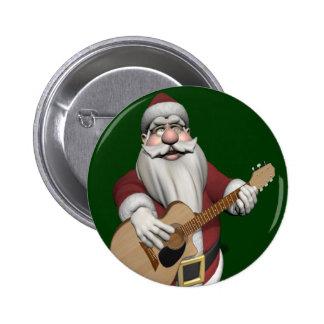 Musical Santa Claus Playing Christmas Songs 6 Cm Round Badge