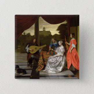Musical Scene in Amsterdam 15 Cm Square Badge