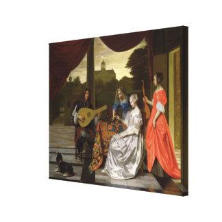 Musical Scene in Amsterdam Canvas Print