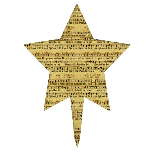 Musical Score Notation Old Paper Design Cake Pick
