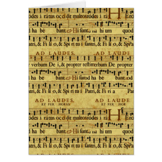 Musical Score Notation Old Paper Design Cards
