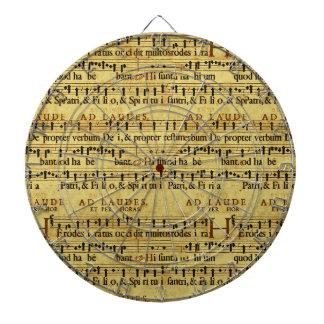 Musical Score Notation Old Paper Design Dart Board