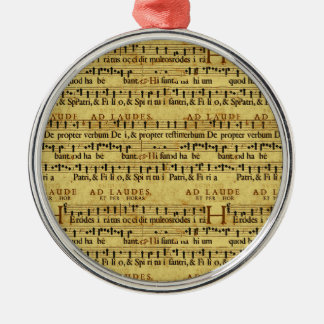Musical Score Notation Old Paper Design Ornaments