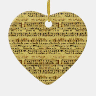 Musical Score Notation Old Paper Design Christmas Ornaments