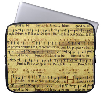 Musical Score Notation Old Paper Design Computer Sleeves