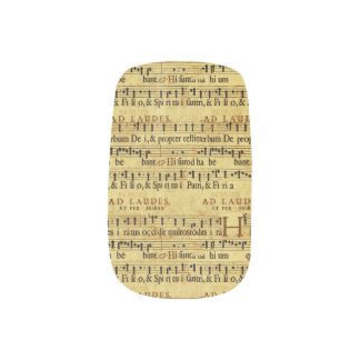 Musical Score Notation Old Paper Design Minx ® Nail Wraps