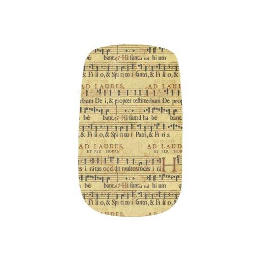 Musical Score Notation Old Paper Design Minx ® Nail Wraps