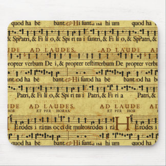 Musical Score Notation Old Paper Design Mouse Pads