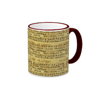 Musical Score Notation Old Paper Design Mugs