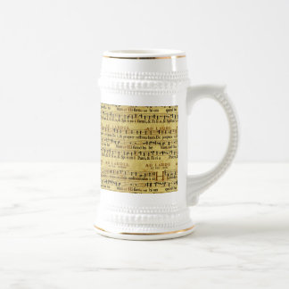 Musical Score Notation Old Paper Design Mug