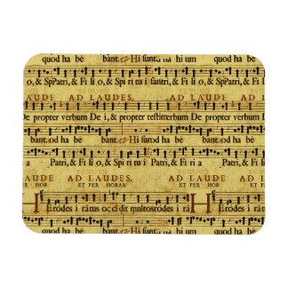 Musical Score Notation Old Paper Design Vinyl Magnets