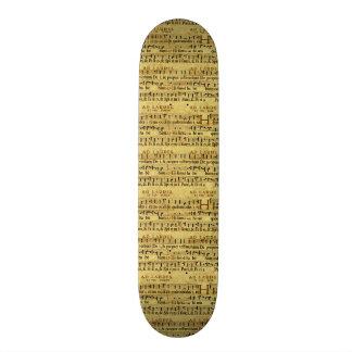 Musical Score Notation Old Paper Design Skate Boards