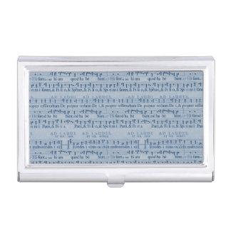 Musical Score Old Blue Paper Design Business Card Case