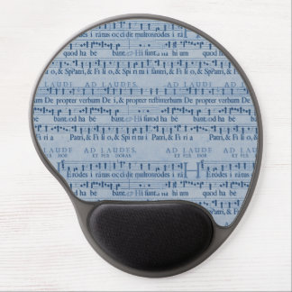Musical Score Old Blue Paper Design Gel Mouse Pad