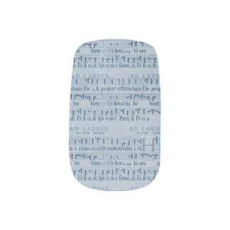 Musical Score Old Blue Paper Design Minx ® Nail Art