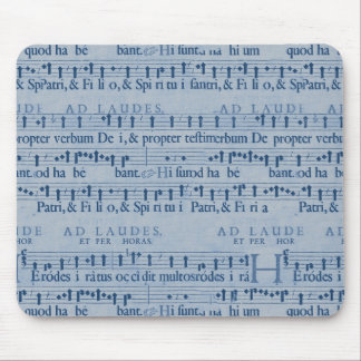 Musical Score Old Blue Paper Design Mousepads