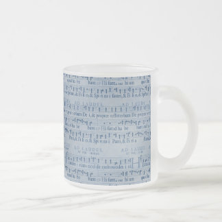Musical Score Old Blue Paper Design Mug
