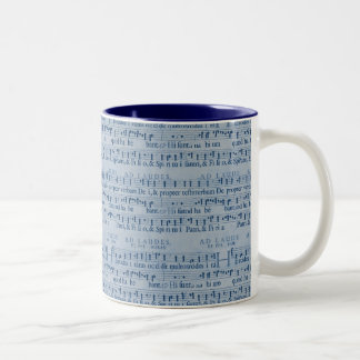 Musical Score Old Blue Paper Design Coffee Mug