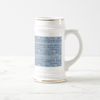 Musical Score Old Blue Paper Design Coffee Mugs