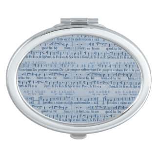 Musical Score Old Blue Paper Design Vanity Mirror