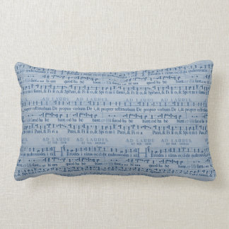 Musical Score Old Blue Paper Design Pillow
