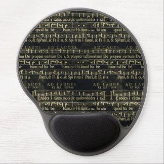 Musical Score Old Chalkboard Design Gel Mouse Pads