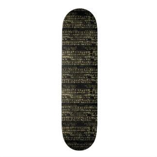 Musical Score Old Chalkboard Design Skateboards