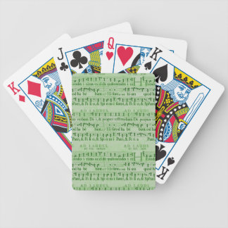 Musical Score Old Green Paper Design Deck Of Cards