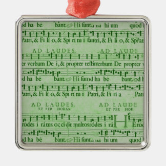 Musical Score Old Green Paper Design Christmas Ornaments