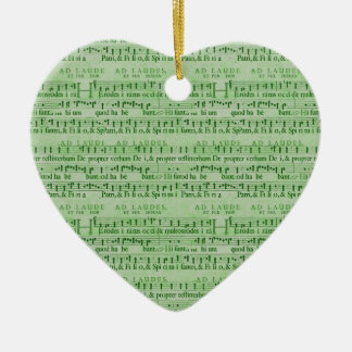 Musical Score Old Green Paper Design Christmas Ornament