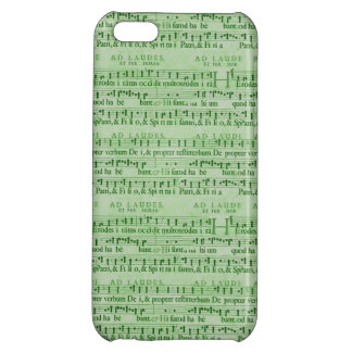 Musical Score Old Green Paper Design Cover For iPhone 5C