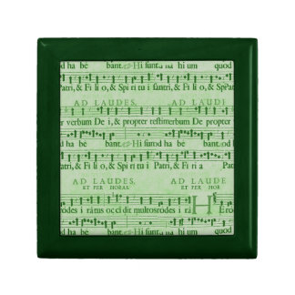 Musical Score Old Green Paper Design Jewelry Boxes