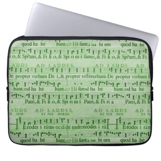 Musical Score Old Green Paper Design Laptop Sleeves