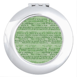 Musical Score Old Green Paper Design Mirrors For Makeup