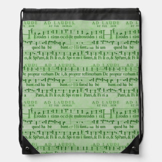 Musical Score Old Green Paper Design Backpack