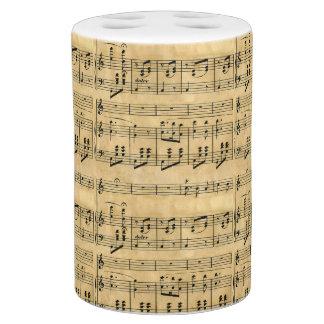 Musical Score Old Parchment Paper Design Bath Accessory Set