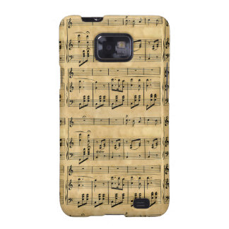 Musical Score Old Parchment Paper Design Samsung Galaxy SII Cover