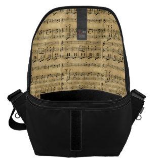 Musical Score Old Parchment Paper Design Commuter Bag