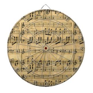 Musical Score Old Parchment Paper Design Dartboards