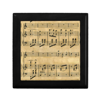 Musical Score Old Parchment Paper Design Gift Boxes
