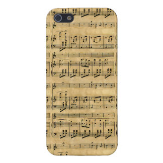 Musical Score Old Parchment Paper Design Cover For iPhone 5/5S