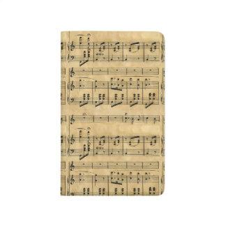 Musical Score Old Parchment Paper Design Journals