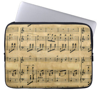 Musical Score Old Parchment Paper Design Computer Sleeves