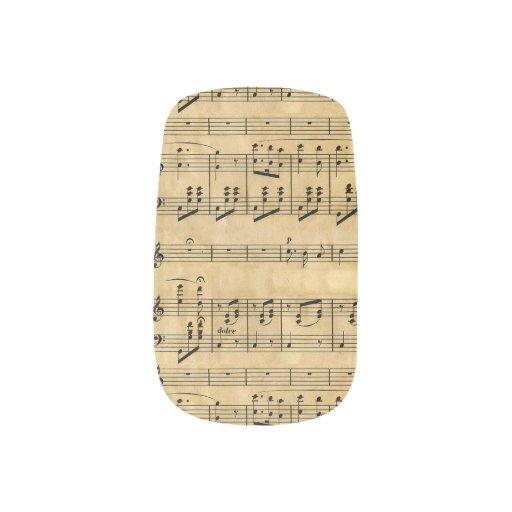 Musical Score Old Parchment Paper Design Minx ® Nail Wraps