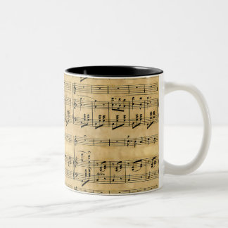 Musical Score Old Parchment Paper Design Coffee Mug
